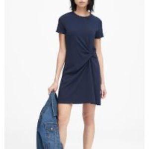 Banana Republic navy short sleeve dress